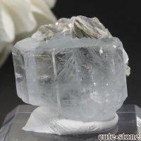 パキスタン Chumar Bakhoor産 アクアマリン&モスコバイトの結晶(原石) 10gの画像