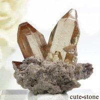 メキシコ Villa Garcia Municipality産 トパーズの母岩付き結晶(原石)3.2gの画像