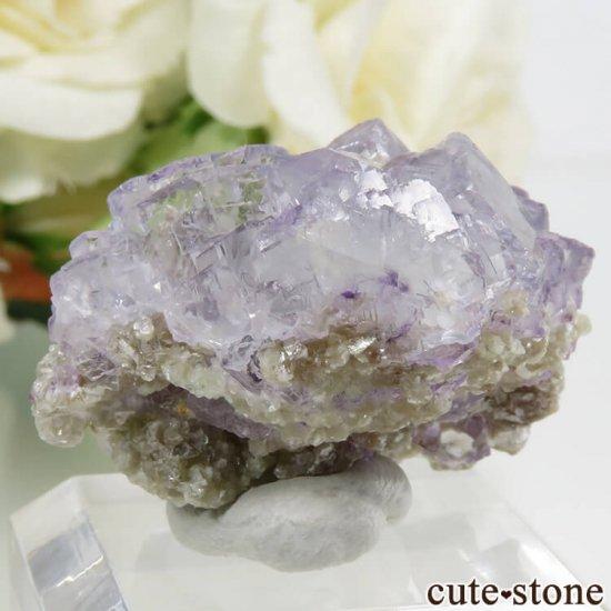ヤオガンシャン産 パープルブルーフローライト 14.4gの写真1 cute stone