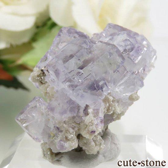 ヤオガンシャン産 パープルブルーフローライト 14.4gの写真2 cute stone