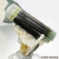 パキスタン スカルドゥ産 ブルーグリーン&グリーン&ホワイトトルマリンの結晶(原石) 4.5gの画像