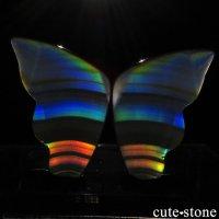 インドネシア産 アイリスアゲートの蝶(イリスアゲート バタフライ) No.9の画像