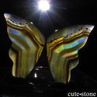 インドネシア産 アイリスアゲートの蝶(イリスアゲート バタフライ) No.14の画像