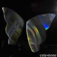 インドネシア産 アイリスアゲートの蝶(イリスアゲート バタフライ) No.18の画像