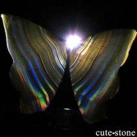 インドネシア産 アイリスアゲートの蝶(イリスアゲート バタフライ) No.20の画像