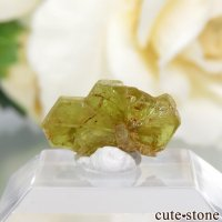 マダガスカル産 双晶クリソベリルの結晶(原石) 0.7gの画像
