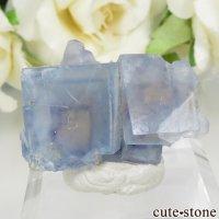 フランス La Barre Mine産 ブルー×イエローフローライトの結晶(原石) 10.4gの画像