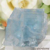 フランス La Barre Mine産 ブルーフローライトの結晶(原石) 12.3gの画像
