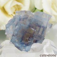 フランス La Barre Mine産 ブルー×イエローフローライトの結晶(原石) 8.9gの画像