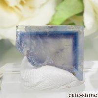 フランス La Barre Mine産 ブルー×イエローフローライトの結晶(原石) 2.9gの画像