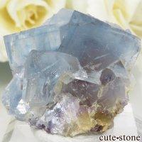 フランス La Barre Mine産 ブルー×イエローフローライトの結晶(原石) 15.6gの画像