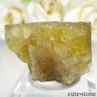 フランス Valzergues産 イエローフローライトの結晶(原石)21.2gの画像