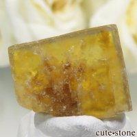 フランス Valzergues産 イエローフローライトの結晶(原石)6gの画像