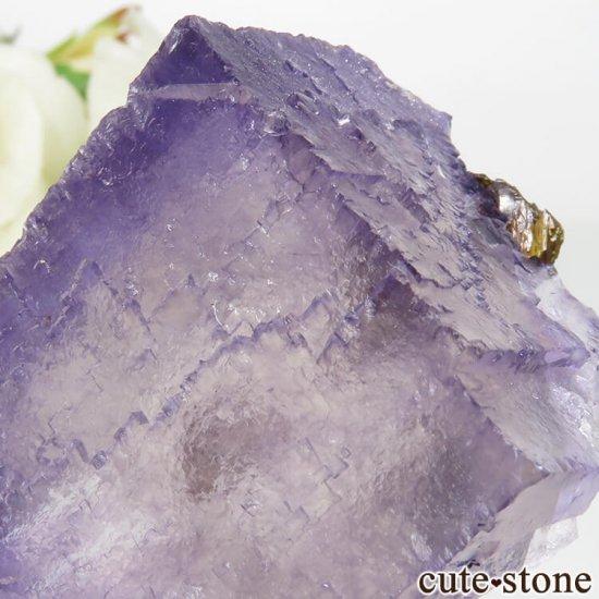 アメリカ エルムウッド鉱山産 パープルブルーフローライト&スファレライトの原石 68.3gの写真3 cute stone