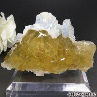 スペイン Moscona Mine鉱山産 イエローフローライト&バライト 94.3gの画像