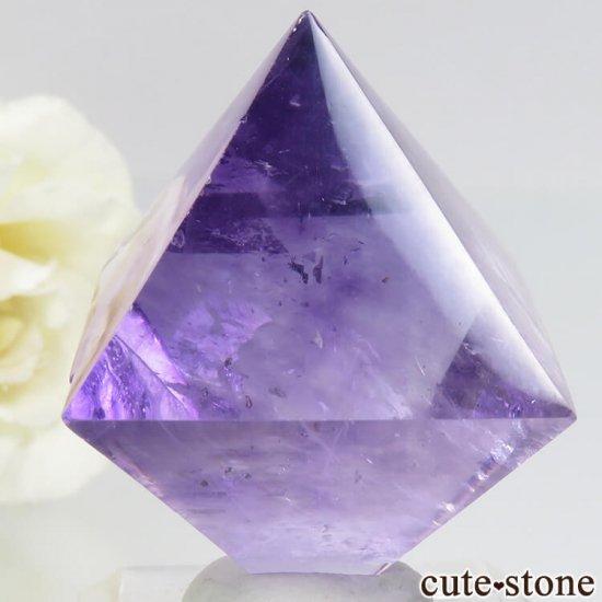 アメリカ産 八面体(へき開結晶)パープルフローライトのポリッシュ(磨き)29.5g の写真1 cute stone