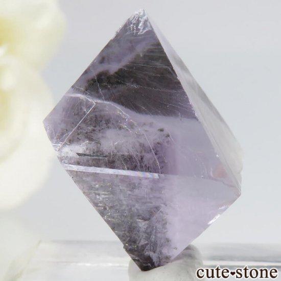 アメリカ産 八面体(へき開結晶)パープルフローライト(蛍石)6.7g の写真0 cute stone