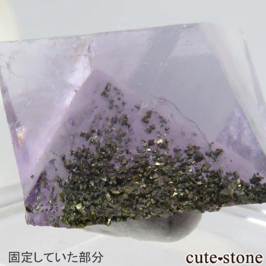 アメリカ産 八面体(へき開結晶)パープルフローライト(蛍石)6.7g の写真3 cute stone