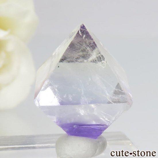 アメリカ産 八面体(へき開結晶)パープルフローライト(蛍石)5.1g の写真1 cute stone