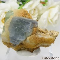 パキスタン シガル産 ブルー×グリーンフローライトの結晶(原石) 31.2gの画像
