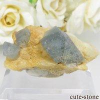 パキスタン シガル産 ブルー×グリーンフローライトの結晶(原石) 18gの画像