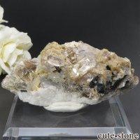 パキスタン シガル産 トパーズ&クォーツの母岩付き結晶(原石) 73.9gの画像