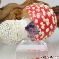 タンザニア産セプタークォーツ(アメジスト)の結晶(原石) 0.8gの画像