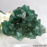 イングランド Diana Maria鉱山産 蛍光フローライトの母岩付き結晶(原石)110gの画像