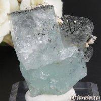 パキスタン Chumar Bakhoor産 アクアマリン&ブラックトルマリンの結晶(原石) 25.2gの画像