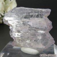 アフガニスタン産 クンツァイト (スポジュメン・リチア輝石) の結晶(原石) 14.7gの画像