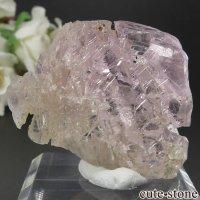 ブラジル産 エッチング(蝕像)クンツァイト (スポジュメン・リチア輝石) の結晶(原石) 25gの画像