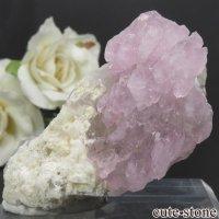 ブラジル ミナスジェライス州産 ローズクォーツの結晶 47.7gの画像