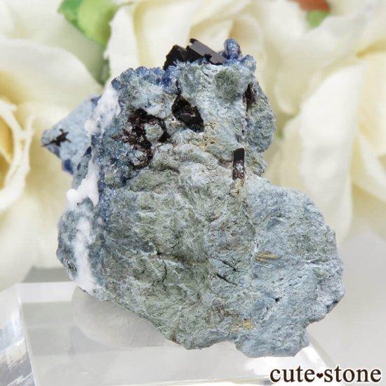 カリフォルニア産 ベニトアイト&ネプチュナイトの母岩付き結晶(原石)7.8gの写真2 cute stone
