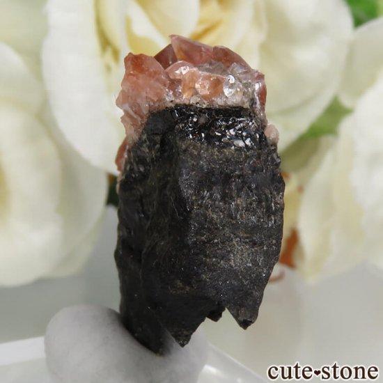ペルー Uchucchacua Mine産 ロードクロサイト&クォーツの母岩付き結晶(原石)8.3gの写真1 cute stone