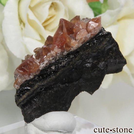 ペルー Uchucchacua Mine産 ロードクロサイト&クォーツの母岩付き結晶(原石)8.3gの写真2 cute stone