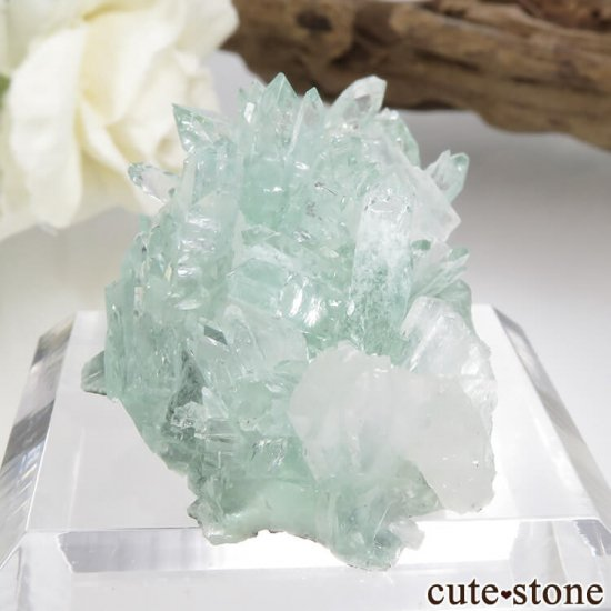 インド プネー産 グリーンアポフィライト&スティルバイトの原石 15.6gの写真2 cute stone