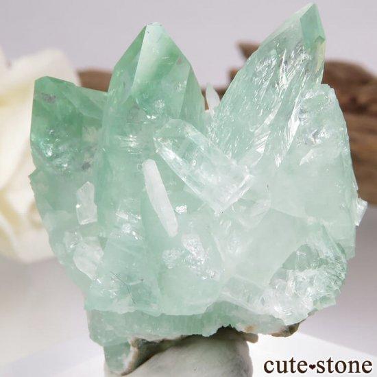 インド プネー産 グリーンアポフィライト&スティルバイトの原石 21.4gの写真2 cute stone