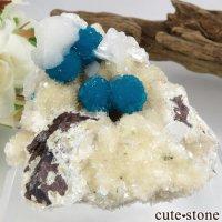 インド プネー産 カバンサイト&スティルバイト&ヒューランダイトの母岩付き結晶(原石)70.8gの画像