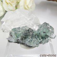 中国 Xianghualing Mine産 グリーンフローライト&カルサイトの結晶 17.3gの画像