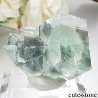 中国 Xianghualing Mine産 グリーンフローライトの結晶 12gの画像