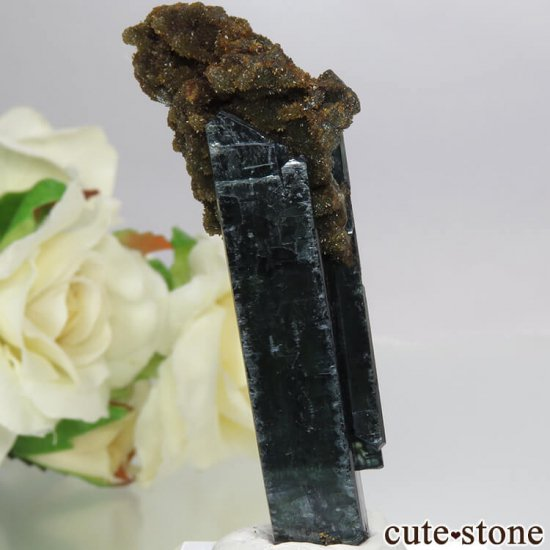 ボリビア Huanuni mine産 ビビアナイト&シデライトの結晶 15.3g