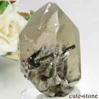 ブラジル ミナスジェライス州産 トルマリンインクォーツの結晶(原石) 32.2gの画像