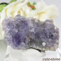 中国 福建省産パープルフローライト&クォーツの母岩付き結晶(原石) 20.4gの画像