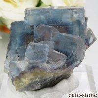 フランス La Barre Mine産 ブルー×イエローフローライトの結晶(原石) 45gの画像