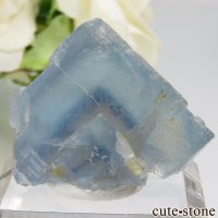 フランス La Barre Mine産 ブルー×イエローフローライトの結晶(原石) 16.5gの画像