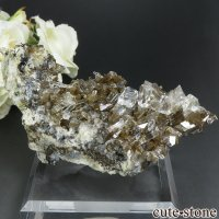 中国 Xia Yang Mine産 カルサイト&フローライトの母岩付き結晶 113gの画像