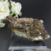 中国 Xia Yang Mine産 カルサイト&フローライトの母岩付き結晶 103gの画像