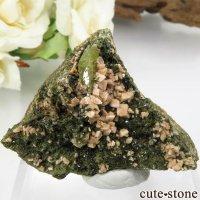 ブラジル ミナスジェライス州産 スフェーン&オーソクレース&エピドートの母岩付き結晶(原石)32.3gの画像