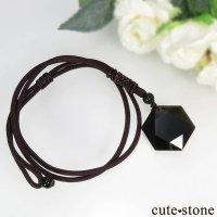 【特価品】 オブシディアンの六芒星型ネックレスの画像