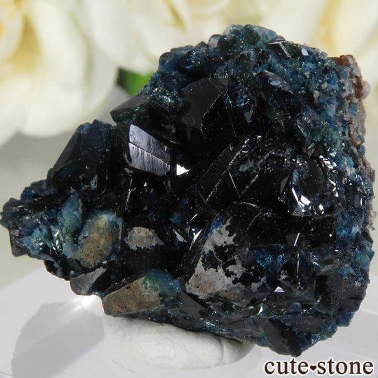 カナダ ユーコン ラピッドクリーク産 ラズライト(天藍石)&クォーツの母岩付き結晶(原石) 13.2gの写真2 cute stone